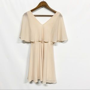 Lulu's | Blush Flutter Layered Ruffle Dress S